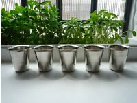 500 Stainless Steel Cups, 200ml, 60g Stylish & robust - New boxed