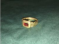 Victorian 18ct Gold MEMORY ring - London 1875 - My Dear Father - Mourning Ring