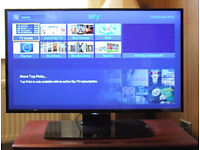 """Sony Bravia 40"""" Led TV, 2 years old in mint condition. Smart TV."""