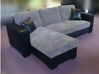 Sofabed with two cushions and storage for bedding