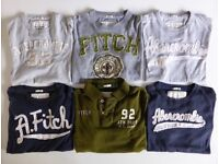 GENUINE USA ABERCROMBIE & FITCH MENS COTTON T-SHIRT / POLO SHIRT A&F MUSCLE FIT SIZE MEDIUM £10 EACH