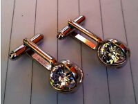 vintage crystal cufflinks