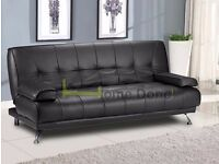 **7-DAY MONEY BACK GUARANTEE!**- Venice Premium Leather Sofabed in 4 colours -DELIVERED SAME DAY!