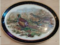 Weatherby Hanley England Royal Falcon Ware Gold Porcelain Plate