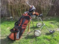 Wilson Golf set and trolley