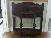 Hall table console table hall stand