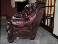 Ox Blood Leather Sofas