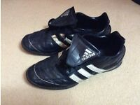 Two Adidas adult size 9.5 trainers