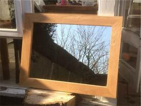 Large SOLID OAK Mirror (87 x 67)