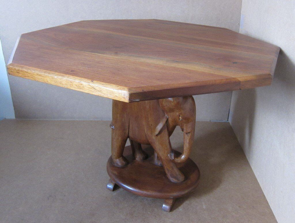 Hand Crafted Elephant Coffee Table 45cm X 58cm Calls Only