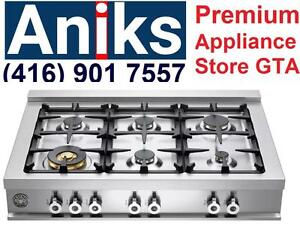 Bertazzoni Professional Series CB36600X 36in Pro-Style Gas Rangetop with 6 Sealed Burners