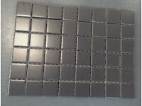Grey 5x5cm floor tiles, 8 sq m in total - new in box