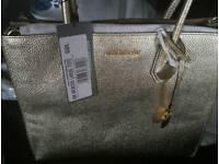 Michael kors gold metallic bag