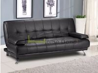 **7-DAY MONEY BACK GUARANTEE!**- Venice Premium Leather Sofa Bed Sofabed -DELIVERED SAME DAY!