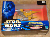 Star Wars Ep 1 Nabboo Fighter - Chasseur Naboo, still in origional box, excellent condition.