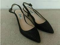 UK Size 4 Clarks Leather Sling-backs - Worn once!