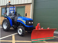 NEW SOLIS 20 4WD COMPACT TRACTOR & FRONT MOUNTED HYDRAULIC LIFTING SNOW PLOUGH