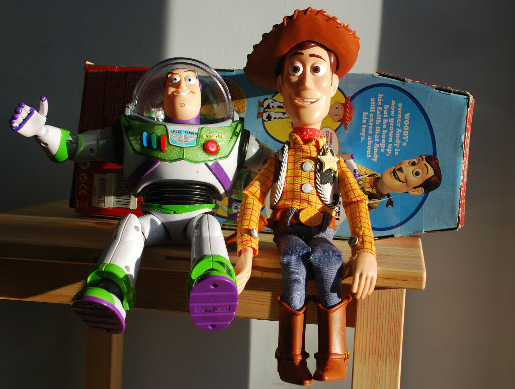 Toy Story Woody Amp Buzz Lightyear Talking Figures From