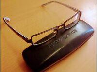 Mens Male Emporio Armani Designer Frames Glasses for Men - with Case