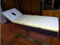Sunbed or Massage Table - full length, foldaway, transportable with handles