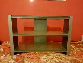 Glass tv stand/ 3 shelves