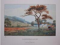 Irish Art Limited Edition Print CAVEHILL & BELFAST CASTLE, N IRELAND by JW CAREY