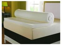 Double mattress topper memory foam