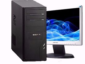 ASUS AMD 2800+ 2GB Ram 250GB Hard Drive Windows 7 Full PC Computer