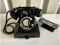 Old style Black dial telephone with BT meter a retro Phone in great Condition