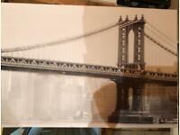 Canvas print - New York , Brooklyn Bridge