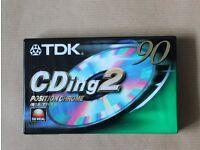 9 TDK CDing2 90min blank cassette tapes