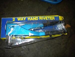 NEW 2-WAY 4 HEAD HAND RIVET GUN WILL TAKE 4 DIFFERT SIZES $10