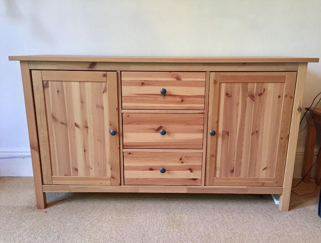 ikea hemnes sideboard - in light brown wood   in beaconsfield