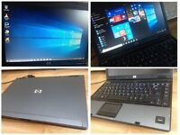 CAN DELIVER, WARRANTY fast working business and multimedial laptop HP, Windows 10 Office Antivirus