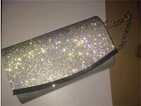 Quiz Diamanté clutch purse