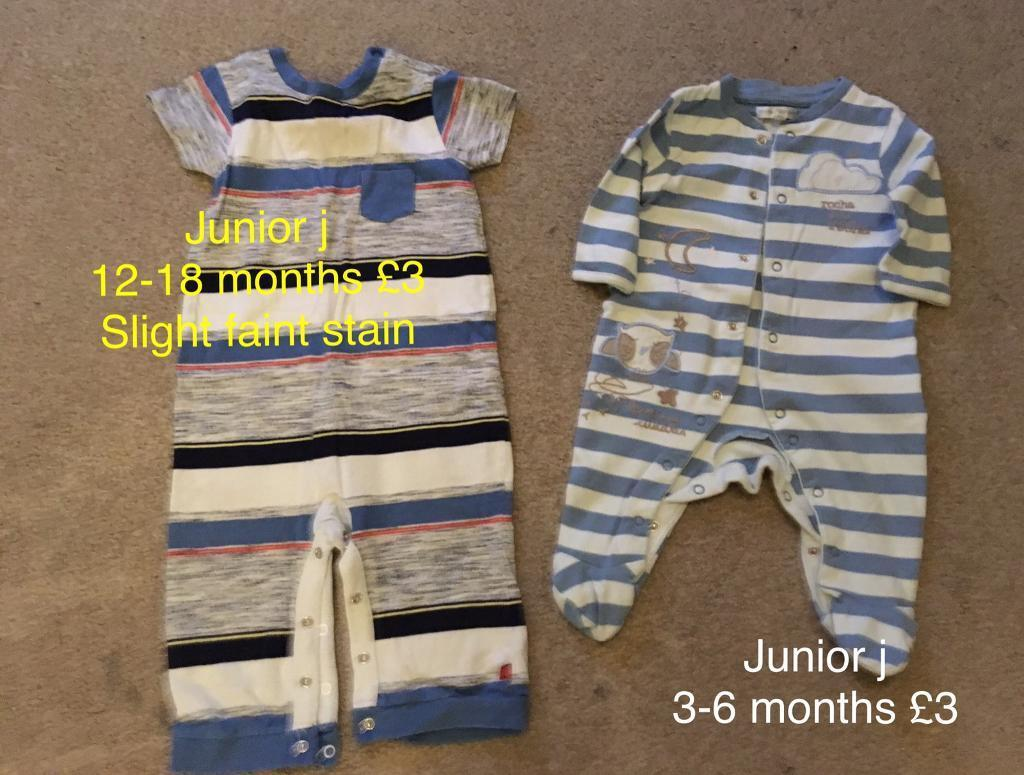 Romper and sleepsuit