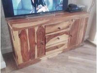 Solid Wood rustic Sheesham Sideboard Unit