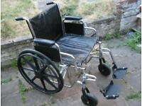 250kg/39st/551lbs Heavy Duty Bariatric Self Propelled Wheelchair