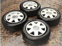 "VW POLO 14"" ALLOY 5 STUD GOOD CONDITON (NO TYRES)"