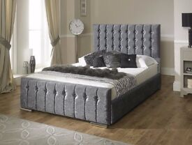 **FREE UK DELIVERY** Hilton Crushed Velvet Luxury Ottoman Storage Bed -BRAND NEW!