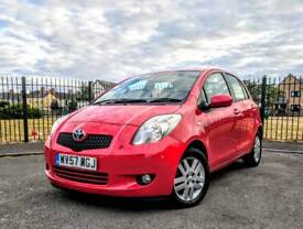 Toyota Yaris 2007, Tr D-4D 1.4 Diesel, Red. Warranted Mileage