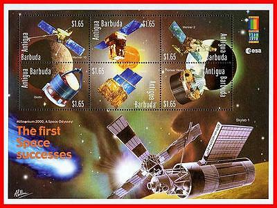 ANTIGUA 2000 USA-RUSSIA SPACE PROBES M/S SC2361 ASTRONOMY/COMET MNH
