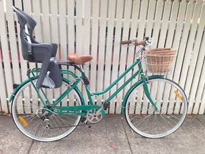 Vintage ladies classic plus bicycle with Polisport baby seat Marrickville Marrickville Area Preview