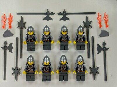 8 Lego Castle Minifigure Lot Fantasy Era Crown Knights 7097 w/ WEAPONS