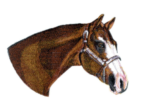 Embroidered Fleece Jacket - Stallion Horse BT4455 Sizes S - XXL