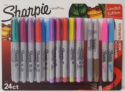 Sharpie Permanent Marker Limited Edition 10 Ultra Fine 10 Fine 2 Metallic 2 Neon