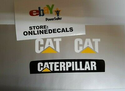 Caterpillar Skid Steer Front Decal Replacement 2 Cab Cat Equipment Decals