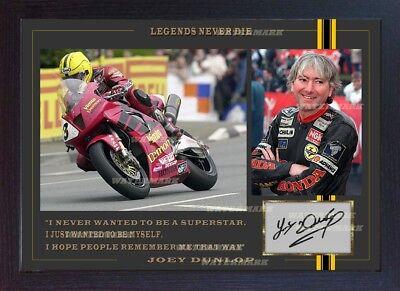 JOEY DUNLOP Honda TT Signed autographed Motor Sport Memorabilia Framed #009