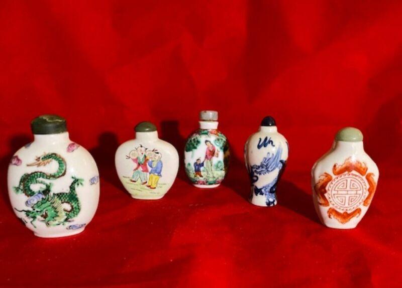 Antique and Vintage Porcelain Snuff Bottles