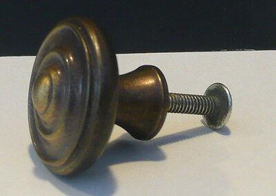 Cabinet Dresser Drawer Pull - Vintage Bullseye Cabinet Knob Pull Dresser Drawer Hardware Antique Bronze Finish